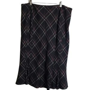 Cato Plaid Skirt 18W Lined